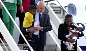 Meriam Ibrahim arrives in Italy