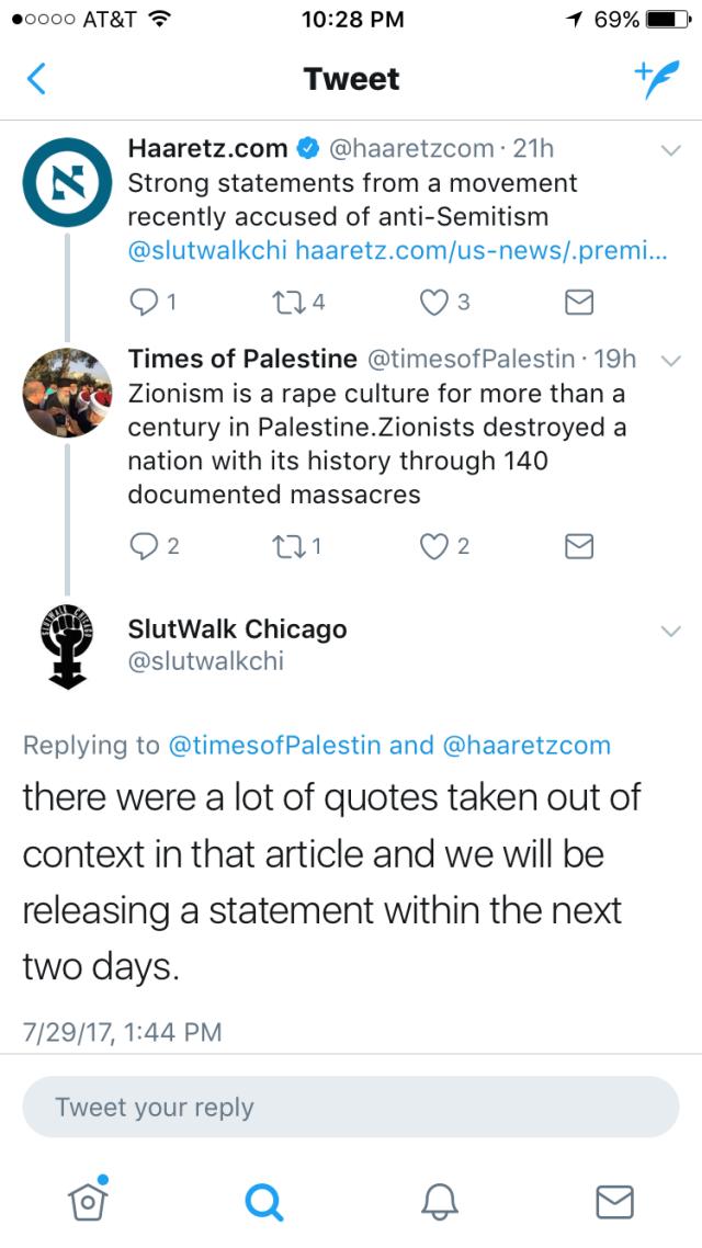 Slutwalk Chicago Changes Their Mind Jewish And Zionist Symbols